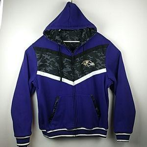 NWT Baltimore Ravens Reversible jacket mens 2XL
